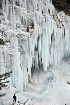 Pericnik waterfall, Slovenia. Not going there in the winter...brrr!!!