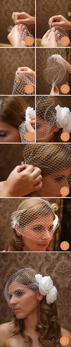 Birdcage Veil DIY