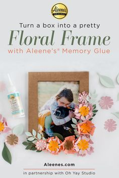 Aleene's Original Glues - Paper Flower Frame Spring Craft with Memory Glue #floral #paperflowers #paperfloral #diyframe #floralframe #aleenes #aleenesdiy Flower Svg, Flower Frame, Quick Crafts, Crafts For Kids, Easy Slime Recipe, Classroom Crafts, Diy Slime, Glue Crafts, Diy Pillows