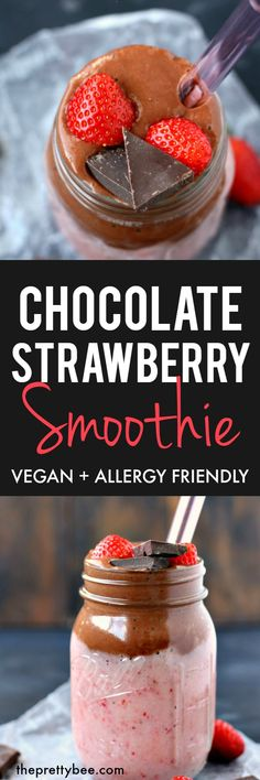 Chocolate Strawberry Smoothie | Posted By: DebbieNet.com