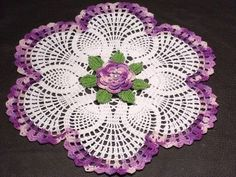 Using colored thread makes any doily come alive!