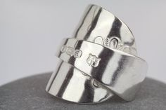 Spoon ring  sterling silver spoon ring  by AmySquaredJewellery