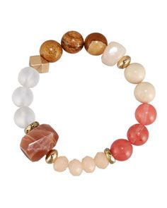 Beaded+Stone+Stretch+Bracelet,+Light+Pink+Mix+by+Nakamol+at+Neiman+Marcus+Last+Call.
