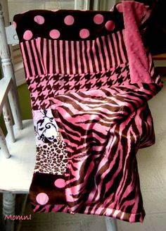 Pink and Brown Animal Print and Patterned Baby Girl by MOMnI, $45.00