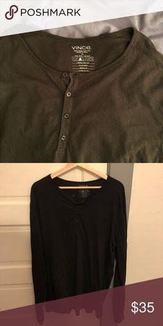 2f061ea42ec3 Vince men s Henley 100% Pima cotton long sleeve T-shirt. Vince Shirts Tees