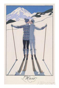 L'Hiver (Winter) Giclee-vedos tekijänä Georges Barbier AllPosters.fi-sivustossa