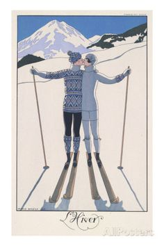 L'Hiver (Winter) Premium Giclee Print by George Barbier at AllPosters.com