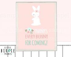BUNNY BIRTHDAY INVITATION Some Bunny Is By Littlebirdieprints