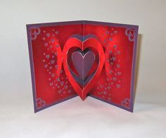 VALENTINES Day 3D Pop Up Card Original Design by BoldFolds on Etsy, $15.00