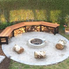 Fire-pit Suggestions -- a book Comfy fire or perhaps even a popular may be the leisure. Yet nowadays, it's advised to get fire-pit on the backyard area. The landscaping style option confirms an outdoor fire area could offer similar encounter or more. Outdoor Fire, Outdoor Seating, Outdoor Living, Outdoor Decor, Landscape Design, Garden Design, Creative Landscape, Landscape Architecture, Concrete Fire Pits