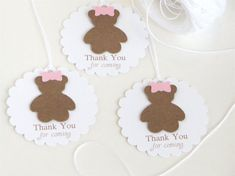 Teddy bear baby shower tags Girl baby shower by WildSugarberries, $9.50