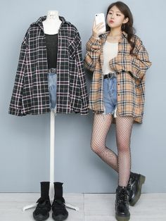 Kpop Fashion Outfits, Ulzzang Fashion, Edgy Outfits, Korean Outfits, Girl Outfits, Cute Overall Outfits, Cute Skirt Outfits, Moda Outfits, Korean Street Fashion