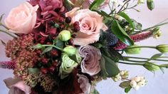 The Flower Magician: Bridal Bouquet in Mulberry, Chocolate & Hazy Vintage Pinks