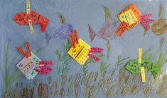 Rybičky v akváriu. Přes obrázek nalepená průhledná fólie imitující sklo. Vytvořili naši předškoláčči. Flag, Country, Art, Art Background, Rural Area, Kunst, Science, Country Music, Performing Arts