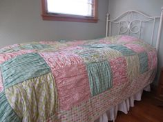 Madeline Ruffled Quilt Top for Duvet by just me, molly, via Flickr