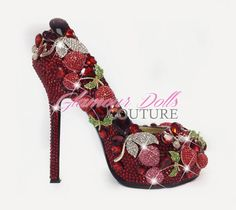 red and hot Your Shoes, New Shoes, Shoe Boots, Shoes Heels, High Heels, Glamour Dolls, Bling Shoes, Sweet Cherries, Tye Dye