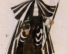 pablo picasso___costume design for ballet tricorne 1917 1