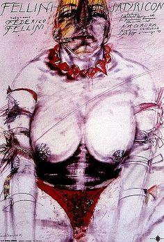 Satyricon - Fellini, Polish Movie Poster