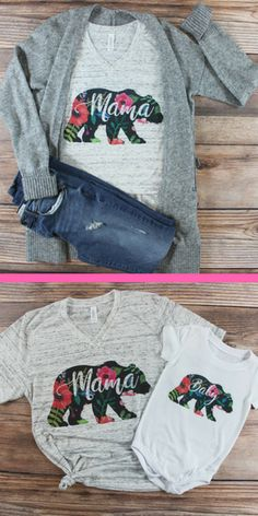 Children and Young Baby Shirts, Pregnancy Shirts, Maternity Shirts, Mom Shirts, Maternity Fashion, Mama Bear Shirt, Momma Bear, Mommy And Me Outfits, Girl Outfits
