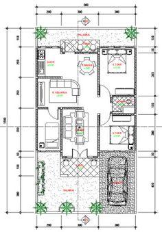 Rumah ini diakomodasi 3 kamar tidur dengan ukuran lahan 10x20 meter. Ukuran yang cukup luas untuk melakukan tata ruang yang lebih fleksibel. Untuk mendapatkan ukuran ruangan yang lebih ideal, kita tidak perlu membesarkan sebuah ruangan untuk sesuatu yang tidak perlu sehingga lahan bisa dimanfaatkan dengan baik. Rumah ini dibuat sesuai dengan kebutuhan dari pemiliknya dengan menyediakan ruang terbuka atau ruang hijau yang berfungsi untuk pencahayaan dan penghawaan.