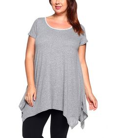 This Gray Sidetail Top - Plus is perfect! #zulilyfinds