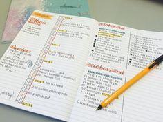 study-read-study:  21-10-15 / 17:15 / New bullet journal spread!