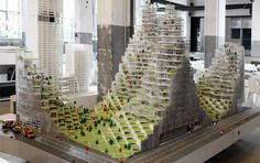 Architects do it with models: The history of architecture in models. Lego Towers by Bjarke Ingels Group, 2007