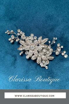 The rich shine and sparkle of this comb can no doubt be Rhodium.  For any bride who wants to sparkle all day and night..#bridalaccessory #clarissaboutiquepittsburgh #clarissaboutique #pittsburgh #bridalboutique #burghbrides #bride #bridetobe #bridalhaircomb #weddinghair #bridalwear #bridalfashion #bridalstyle #wedding #chignonhairstyle#bohobride #bridalhair #weddinginspiration #bridaljewelry #bridalcomb