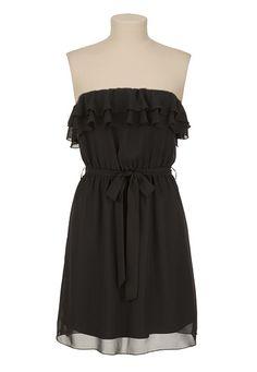Chiffon Ruffle Tube Dress