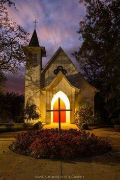 Church at nightfall.