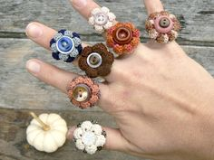 picture, crocheted rings