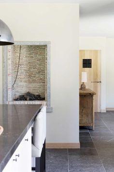 Huis in pastoriestijl nabij Sint-Niklaas - Wonen Landelijke Stijl Style Oriental, Double Vitrage, California Style, Minimalist Interior, Modern Kitchen Design, Interior Inspiration, Home Office, Interior Design, Furniture