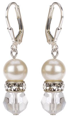 Vintage Bridal Crystal and Pearl Earrings Notonthehighstreet.com