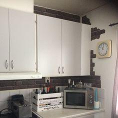 #brickwall #kitchen #retro