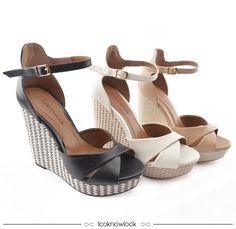 Sandálias Looknowlook | Sandálias Plataforma | Wedge Sandals  #sandália #plataforma #calçados #looknowlook