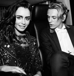 Lily Collins and Jamie Campbell Bower... I just laughed out loud. That's not even subtle, Jamie.