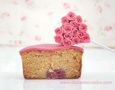Dulces bocados: Cupcake de frambuesa para San Valentín