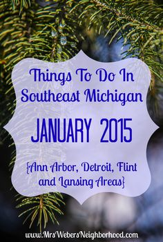 A big list of family-friendly things to do in southeast Michigan in January 2015! {Includes events in Ann Arbor, Detroit, Flint and Lansing}