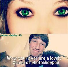 HAHA #funny #photoshop #makeup #eyes