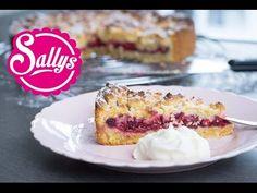Sallys Rezepte - Kirschkuchen mit Marzipanstreuseln
