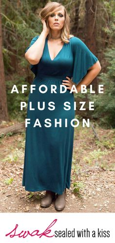 A plus size teal maxi dress with graceful kimono sleeves and a tie-back waist. Elegance is in the air when our gorgeous Joan Maxi Dress steps into the scene. The Joan Dress is perfect for many formal occasions at an affordable price. Lightweight Cardigan, Plus Size Maxi Dresses, Kimono Fashion, Plus Size Fashion, Teal, Scene, Formal, Elegant, Casual