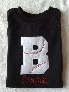 Custom Baseball Initial Shirt $20.00