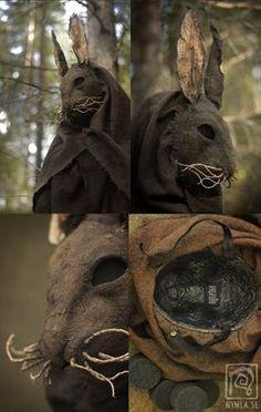 Creepy Rabbit Mask Closeup by Nymla on DeviantArt - Creepy Rabbit Mask Closeup by Nymla You are in the right place about mask for acne Here we offer yo - Mascara Papel Mache, Creepy Animals, Creepy Masks, Bunny Mask, Grandeur Nature, Animal Masks, Arte Horror, Masks Art, Halloween Kostüm