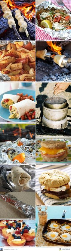 Delicious camping recipes... Good for home, too!