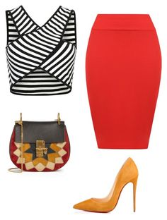 Untitled #591 by thequeenofhighheels on Polyvore featuring polyvore fashion style WearAll Christian Louboutin Chloé clothing