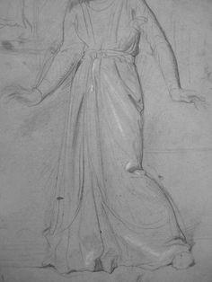 CHASSERIAU Théodore,1843 - Ste Marie l'Egyptienne, Assomption, Etude pour l'Eglise St-Merri(1) - drawing - Détail 07