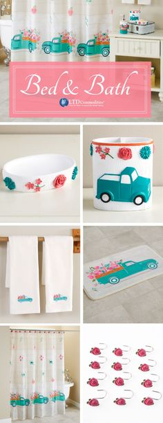Spring Truck Bath Collection Home Decor NEW Free Shipping.