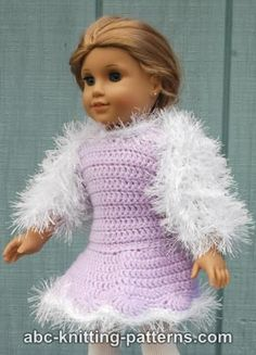 ABC Knitting Patterns - American Girl Doll Fur Shrug