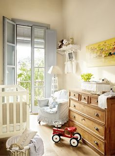 Modern Country Style: Blue and Red Colour Schemes In Children's Bedrooms Click through for details.