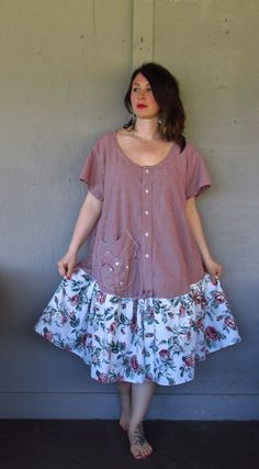 15 off Bohemian French Shabby dress upcycled by lillienoradrygoods, $82.50 Shabby Chic Dress, Stylish Gown, Shirt Refashion, Clothes Crafts, Country Outfits, Fashion Line, Cool Style, Creations, Summer Dresses